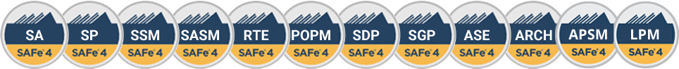 Scaled Agile courses, Scrum Master, Release Train Engineer, Product Owner, Leading SAFe, agile teams, DevOps, Agile Software Engineering
